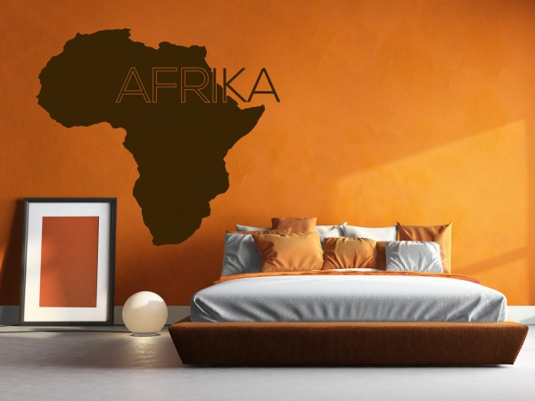Afrika-Wandtattoo Africa Map