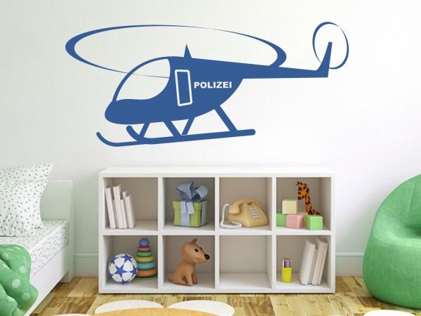 """Wandtattoo Kinderzimmer """"Polizei Hubschrauber"""""""
