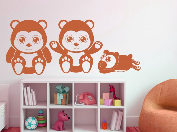 "Wandtattoo Kinderzimmer ""Teddybären"""