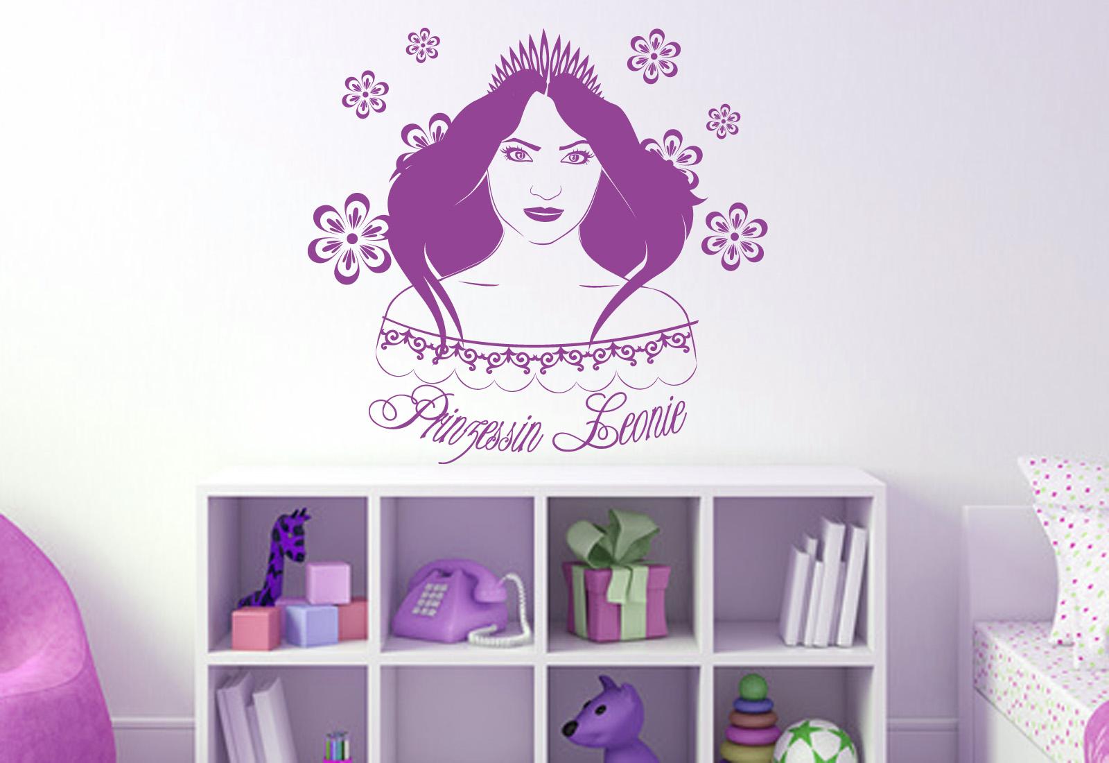 "Wunschname Wandtattoo Kinderzimmer ""Prinzessin"" ab 24 90"