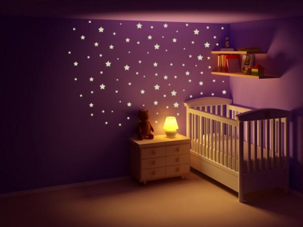 """Wandtattoo - Leuchtmotive Kinderzimmer """"Sternennacht"""""""