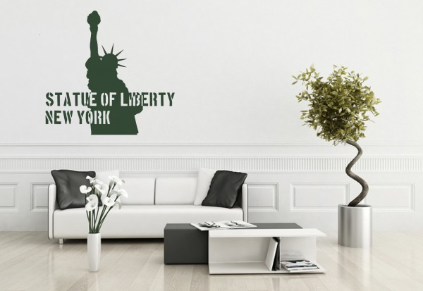 "Wandtattoo ""Statue Of Liberty New York"""
