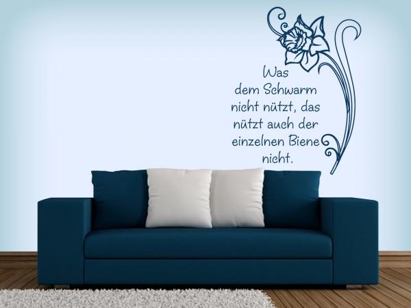 """Wandtattoo """"Nutzen eines Schwarms"""""""