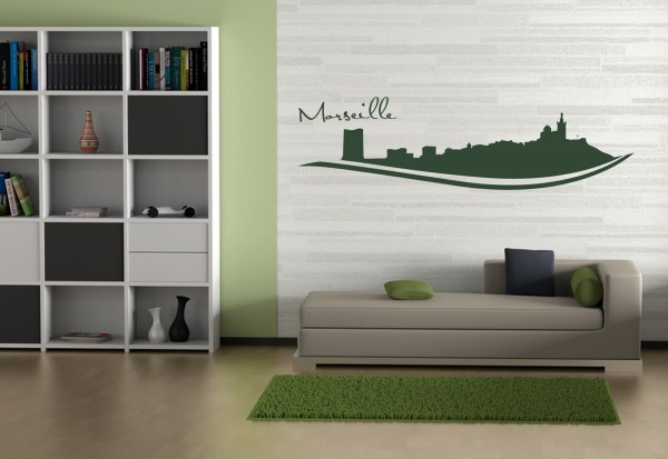 """Wandtattoo Schlafzimmer / Wohnzimmer """"Marseille France"""""""