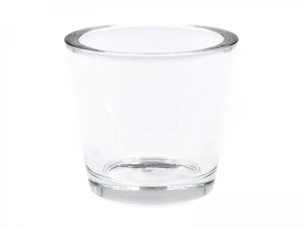 Modernes Windlicht-Glas XXL-Glas D=10cm, H=9cm 1er & 6er Pack
