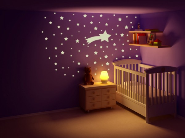"""Wandtattoo - Leuchtmotive Kinderzimmer """"Sternschnuppe"""""""