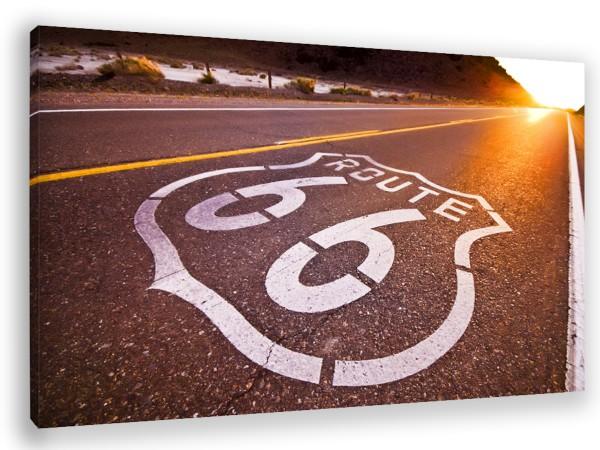 """Leinwandbild """"Route 66"""""""