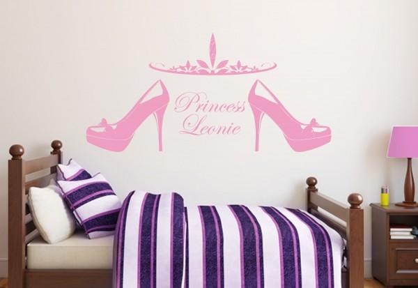 """Wunschname-Wandtattoo Kinderzimmer """"Prinzessin"""""""