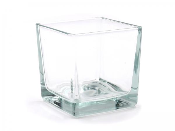 Moderner Glaswürfel Teelicht 8 x 8 x 8cm einzeln & 6er Pack