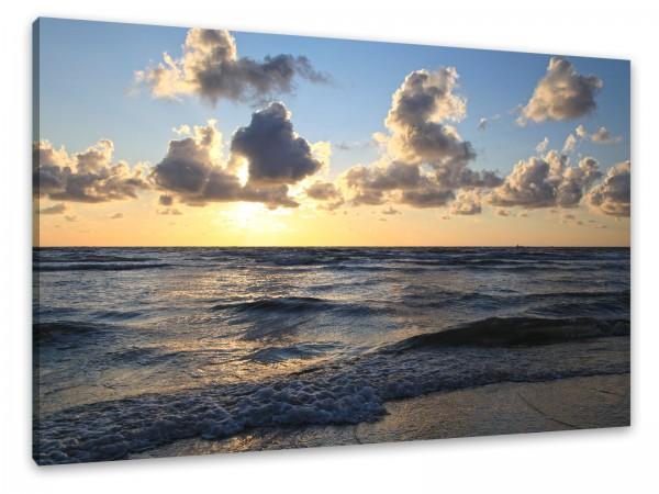 "Leinwandbild ""Sonnenuntergang am Strand"""