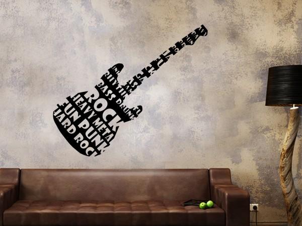Wandtattoo Rockgitarre