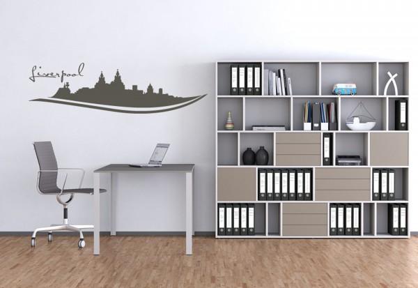 """Wandtattoo Schlafzimmer / Wohnzimmer """"Liverpool UK"""""""