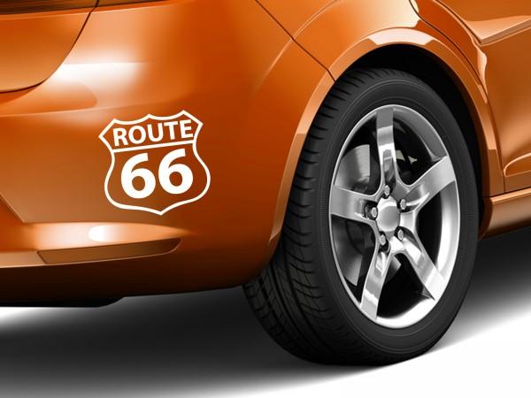 """Autoaufkleber """"Route 66 No.2"""""""
