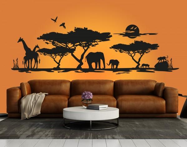 "Wandtattoo ""Afrika Savanne 1"""