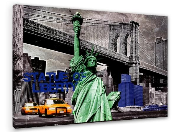 """Leinwandbild """"New York Liberty Colors"""""""