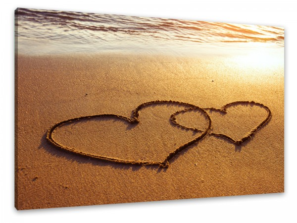 "Leinwandbild ""Strand der Liebe"""