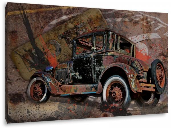 "Leinwandbild ""Route 66 Oldtimer"""