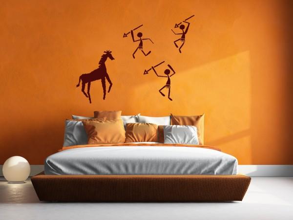 Afrika-Wandtattoo Afrikanische Höhlen-Malerei